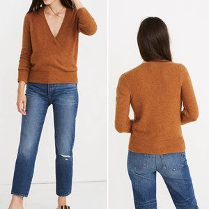 NWT Madewell Wrap-Front Sweater in Coziest Yarn